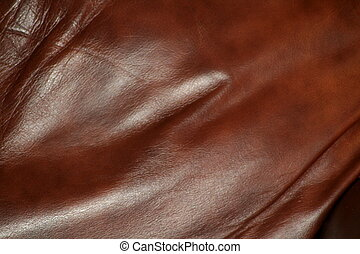 Leather - dark reddish brown leather upholstery, fabric