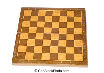 chess-board - series object on white - chess - board