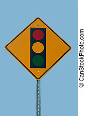 luz, tráfico, señal
