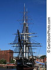Boston - The USS Constitution in Boston, Massachusetts.