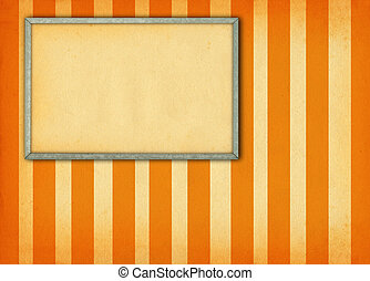 frame on retro background - empty frame on retro background...