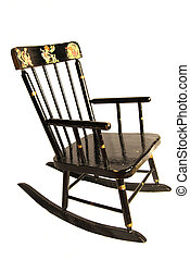 Antique Childs Rocking Chair - Early 20th century black...