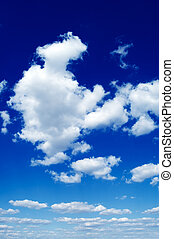 The white clouds. - The white clouds in blue sky.