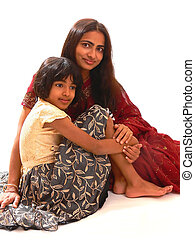 Mother and daughter. - An indian mother with her daughter...