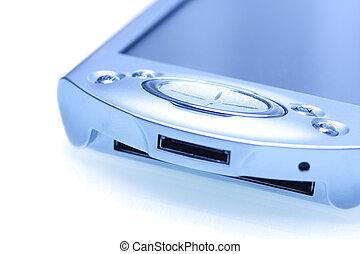 PDA - A shot of a PDA in a blue tone