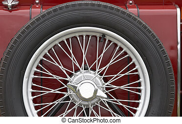 Spare Wheel - A vintage vehicles spare wheel
