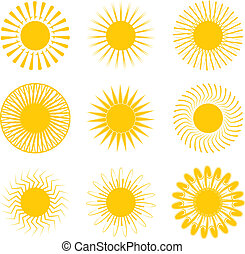 inca sun - Sun illustrations with nine different variations...