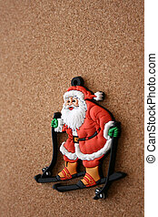Santa Clause on a cork background