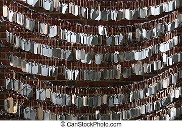 Tags - Dog Tags representing each solider killed in the war...