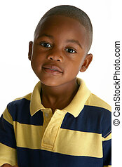 Adorable African American Boy - Adorable 5 year old African...