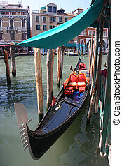 gondola at the grand canal, venice