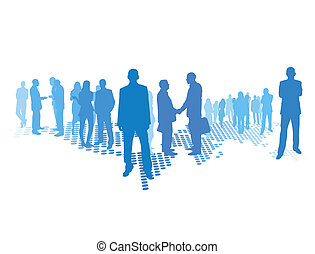 business world - business concept, people (man and woman)...