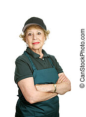 Senior Worker - Personal Pride - A senior woman doing a...