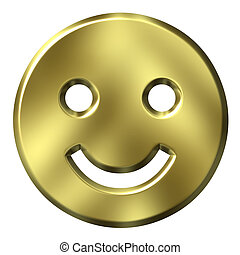 3D Golden Smiley