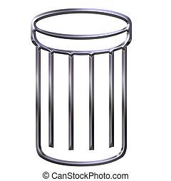 3D Waste Bin