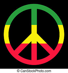 Colorfull Peace Symbol