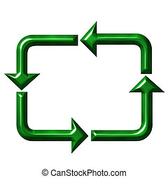 Square Recycling Symbol