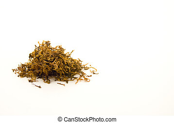 Tobacco - A little pile of rolling tobacco for making home...
