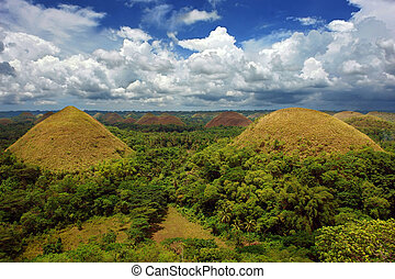 Bohol Chocolate Hills panorama - A panorama of the famous...