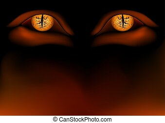 Daemon Eyes - Detailed illustration as background