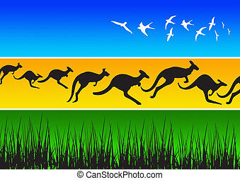 Animal Silhouettes 11 - illustration of different african...