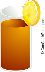 Ice tea illustration - Illustration of ice tea in a glass,...