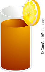 Ice tea illustration - Illustration of ice tea in a glass,...