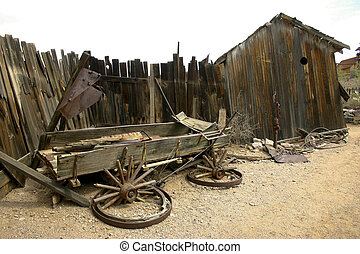 Old Broken Wagon - A picture of an old broken down wagon