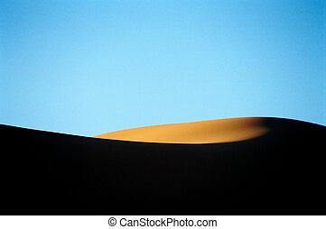 Desert dunes - Desert landscape, dunes of sahara, Maroc,...