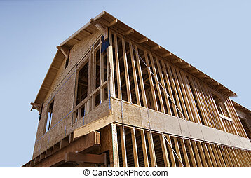 New Home Construction wooden Frames