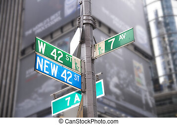42st Times Square signs