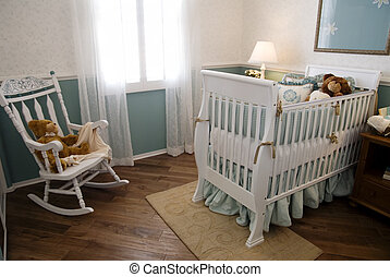 Nursery and Crib - Interior design styling for new nursery