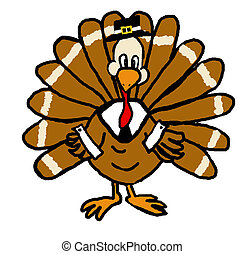 Pilgrim Turkey - A turkey dressed up as a Thanksgiving...