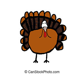 Simple Turkey - Clip art of a simple thanksgiving turkey