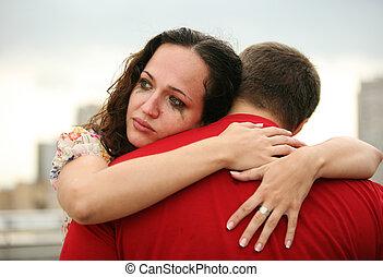 lágrimas, confiança