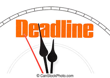 concept of deadline - clock face, concept of deadline