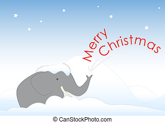 Elephant Merry Christmas