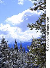 Mountains, snöig