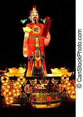 God of Fortune - god of fortune during chinese lantern...