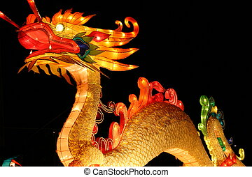 Dragon - dragon during chinese lantern festival celebrating...