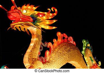 Dragon - dragon during chinese lantern festival celebrating...