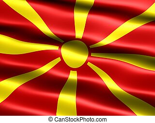Flag: Repub of Macedonia - Computer generated illustration...