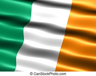 Flag of Ireland - Computer generated illustration of the...