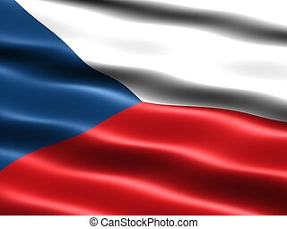 Flag: Czech Republic - Computer generated illustration of...