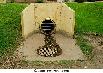 Sewer - A picture of a sewer drain.