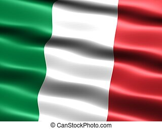 Flag of Italy - Computer generated illustration of the flag...