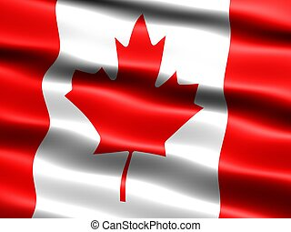 Flag of Canada - Computer generated illustration of the flag...