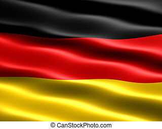 Flag of Germany - Computer generated illustration of the...