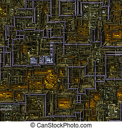 heavy machinery - large background image of complex...