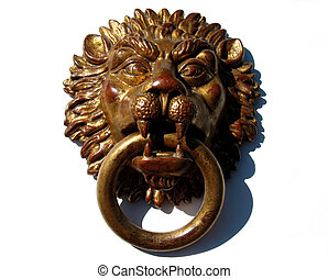 Lion head used for interior decoration, ancient